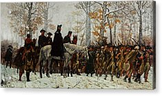 The March To Valley Forge, Dec 19, 1777 Acrylic Print