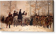 The March To Valley Forge Acrylic Print by Mountain Dreams