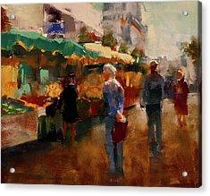 The Market Acrylic Print by David Patterson