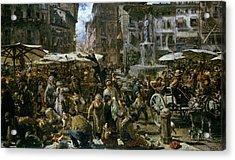 The Market Of Verona Acrylic Print