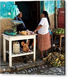 The Market Acrylic Print by Ron Dubin