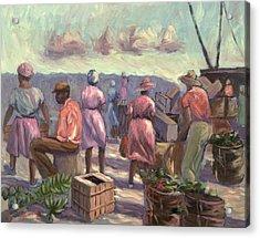 The Marketplace Acrylic Print by Carlton Murrell
