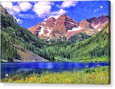 The Maroon Bells Acrylic Print by Dominic Piperata