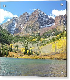 The Maroon Bells 2 Acrylic Print by Eric Glaser