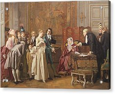 The Marriage  Acrylic Print by Jules Adolphe Goupil