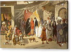 The Marriage Of An Arab In Cairo Acrylic Print by French School