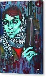 The Marriage Of Leila Khaled Acrylic Print by Khalid Hussein