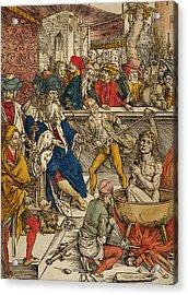 The Martyrdom Of St John Acrylic Print by Albrecht Durer or Duerer