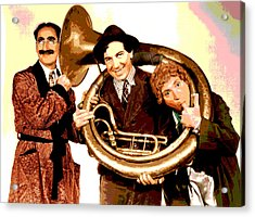 The Marx Brothers Acrylic Print by Charles Shoup