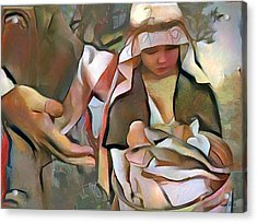 The Master's Hands - Provider Acrylic Print by Wayne Pascall