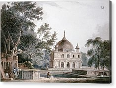 The Mausoleum Of Prince Khusrau Acrylic Print by Thomas and William Daniell