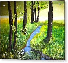The Meadow Acrylic Print by Rod Jellison