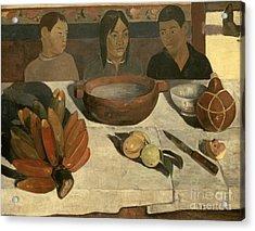The Meal Acrylic Print by Paul Gauguin