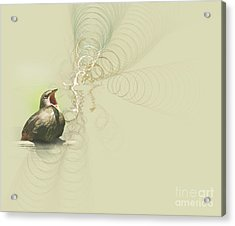 The Mechanical Energy Of Sound Acrylic Print by Jan Piller