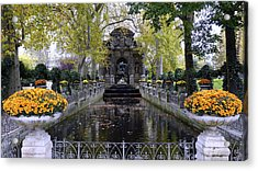 The Medici Fountain At The Jardin Du Luxembourg In Paris France. Acrylic Print