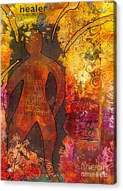 The Medicine Man Acrylic Print by Angela L Walker