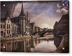 The Medieval Old Town Of Ghent  Acrylic Print by Carol Japp