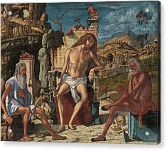 The Meditation On The Passion Acrylic Print by Vittore Carpaccio