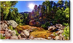 The Meditation Pond Acrylic Print by ABeautifulSky Photography