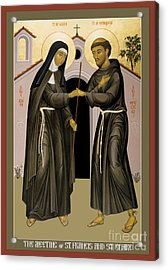 The Meeting Of Sts. Francis And Clare - Rlfac Acrylic Print