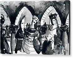 The Meeting - Venice Carnival Acrylic Print by Mona Edulesco