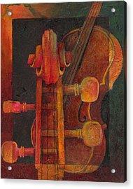 The Mellow Cello Acrylic Print by Susanne Clark