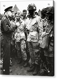 The Men Of Company E Of The 502nd Parachute Infantry Regiment Before D Day Acrylic Print by American School