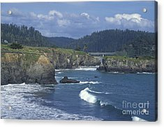 Acrylic Print featuring the photograph The Mendocino Coast 2 by Stan and Anne Foster