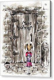 The Men's Room Acrylic Print