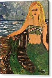 The Mermaid Of Kanaha Pond Acrylic Print