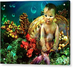 The Mermaids Treasure Acrylic Print
