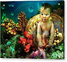 The Mermaids Treasure Acrylic Print
