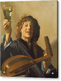 The Merry Lute Player Acrylic Print by Frans Hals