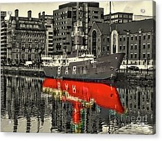 The Mersey Planet Light Vessel Acrylic Print by Nick Wardekker