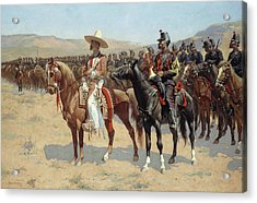 The Mexican Major Acrylic Print by Frederic Remington