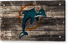 The Miami Dolphins W1 Acrylic Print by Brian Reaves