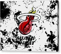 The Miami Heat 1c Acrylic Print by Brian Reaves