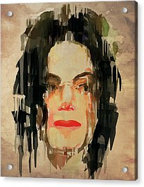 The Michael Jackson Portrait Acrylic Print by Yury Malkov