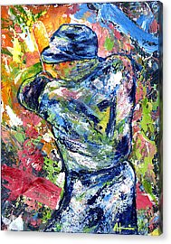 The Mick Mickey Mantle Acrylic Print by Ash Hussein