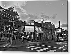 The Middle East In Central Square Cambridge Ma Black And White Acrylic Print