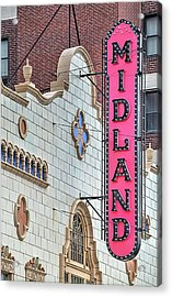 The Midland Theater  Acrylic Print by JC Findley