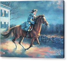 The Midnight Ride Of Paul Revere Acrylic Print