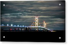 Acrylic Print featuring the photograph The Mighty Mack At Night by Onyonet  Photo Studios