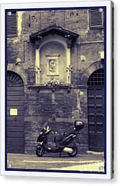 The Mighty Vespa Acrylic Print by Karen Lewis