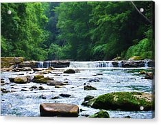 The Mighty Wissahickon Acrylic Print by Bill Cannon