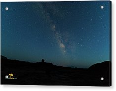 Acrylic Print featuring the photograph The Milky Way At Goblin Valley by Jim Thompson