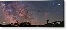 The Milky Way Core Acrylic Print