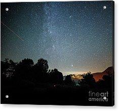 The Milky Way Over Seneca Rocks Acrylic Print by Dr Regina E Schulte-Ladbeck