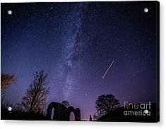 The Milky Way Over Strata Florida Abbey, Ceredigion Wales Uk Acrylic Print