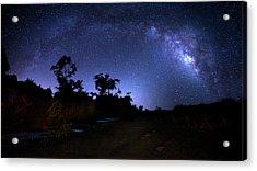The Milky Way Trail Acrylic Print by Mark Andrew Thomas